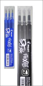 FriXion, Erasable, rollerball, gel pen, pen, writing, Pilot Pen