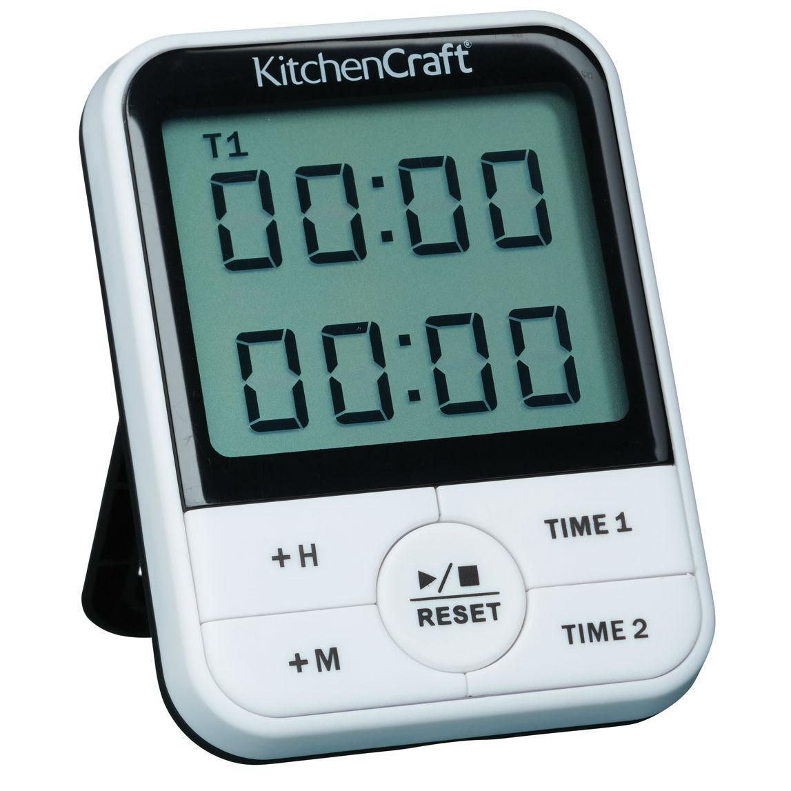 KitchenCraft 24-Hour Dual Event Digital Kitchen Timer: Amazon.co.uk ...