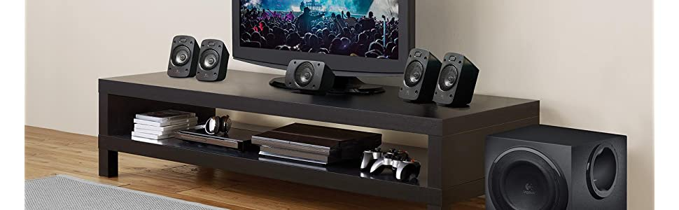 Logitech Z906 Stereo Speakers 3d 5 1 Dolby Surround Sound