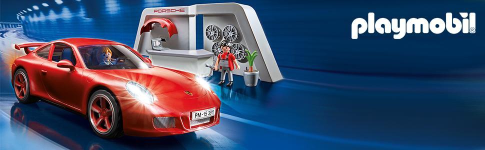 playmobil 3911 porsche 911 carrera s with lights workshop toys games. Black Bedroom Furniture Sets. Home Design Ideas