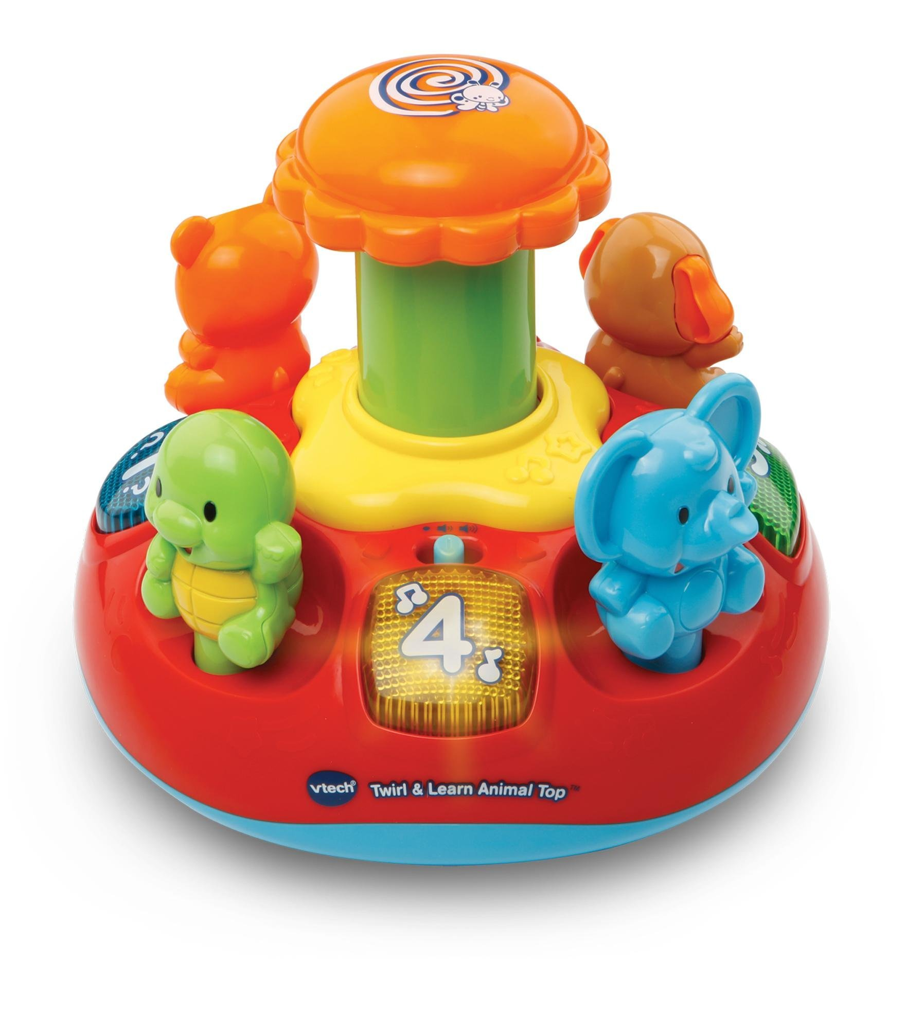 VTech Baby Push and Play Spinning Top Toy Multi Coloured VTech