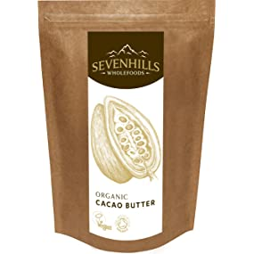 Sevenhills Wholefoods Organic Cacao Butter, Cocoa
