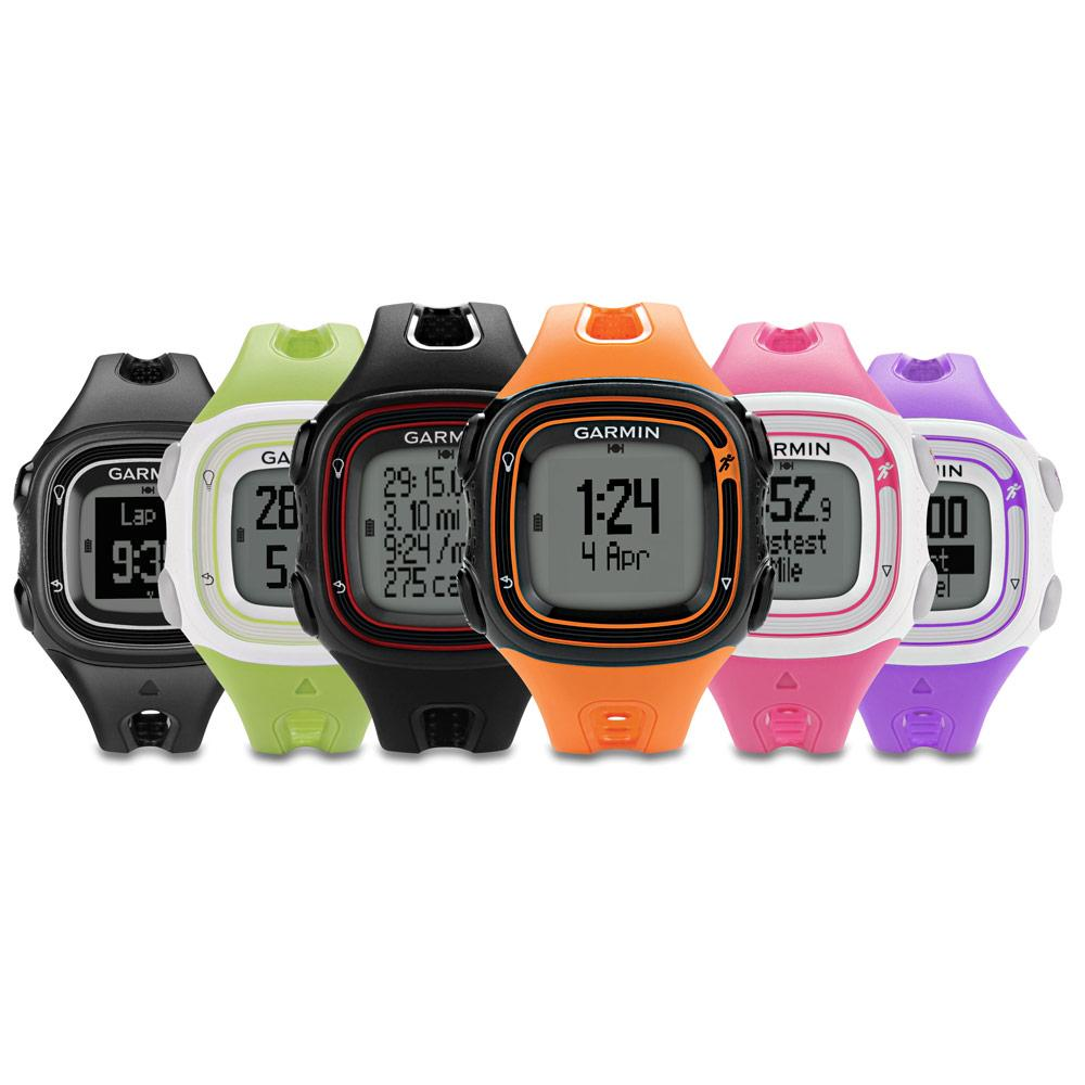 garmin forerunner 10 gps running watch large orange black electronics. Black Bedroom Furniture Sets. Home Design Ideas
