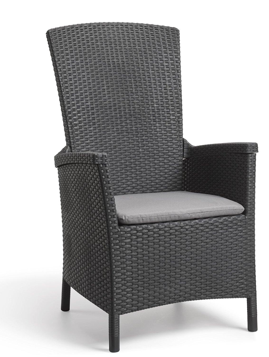 Allibert By Keter Vermont Rattan Reclining Chair Outdoor