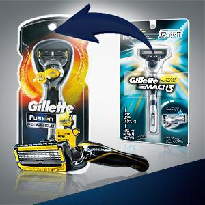 gillette mach3 manual razor blades pack of 4 blades. Black Bedroom Furniture Sets. Home Design Ideas