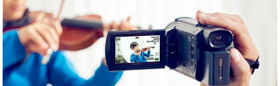 Sony, FDR-AX53, Ultra HD, 4K, Compact Camcorder, Balanced Optical Steadyshot, Optical zoom, wi-fi