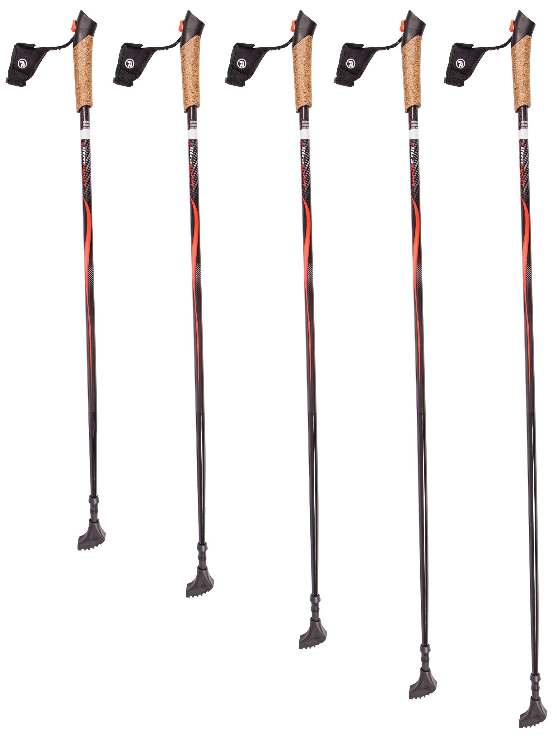 ultrasport carbon nordic walking poles with cork grip and. Black Bedroom Furniture Sets. Home Design Ideas