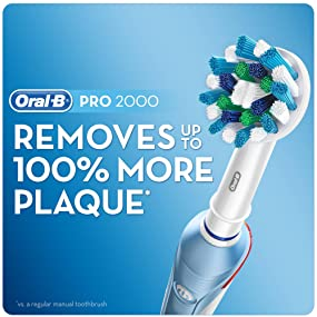 Braun Oral-B PRO 2000 CrossAction Rechargeable Electric Toothbrush
