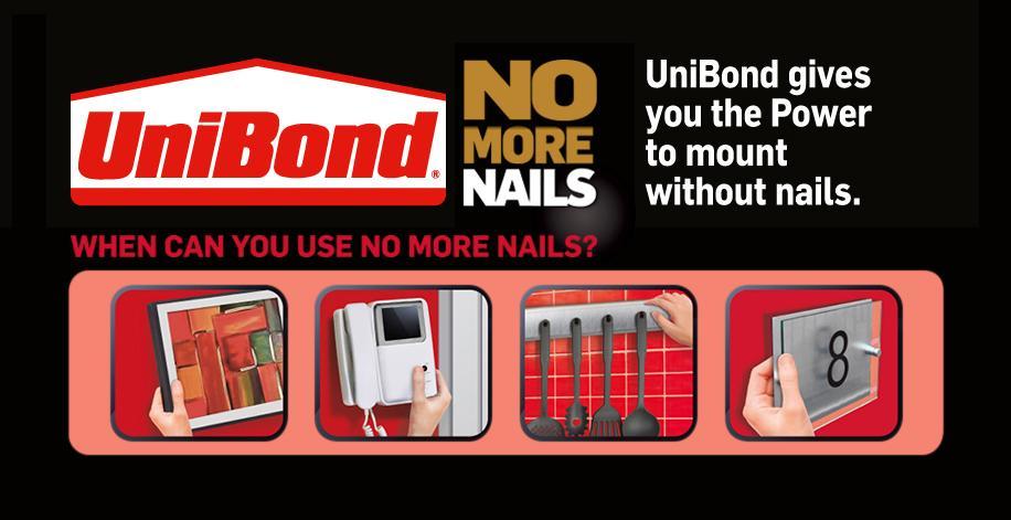 Unibond No More Nails Permanent Roll 19 Mm X 1 5 M Diy Tools