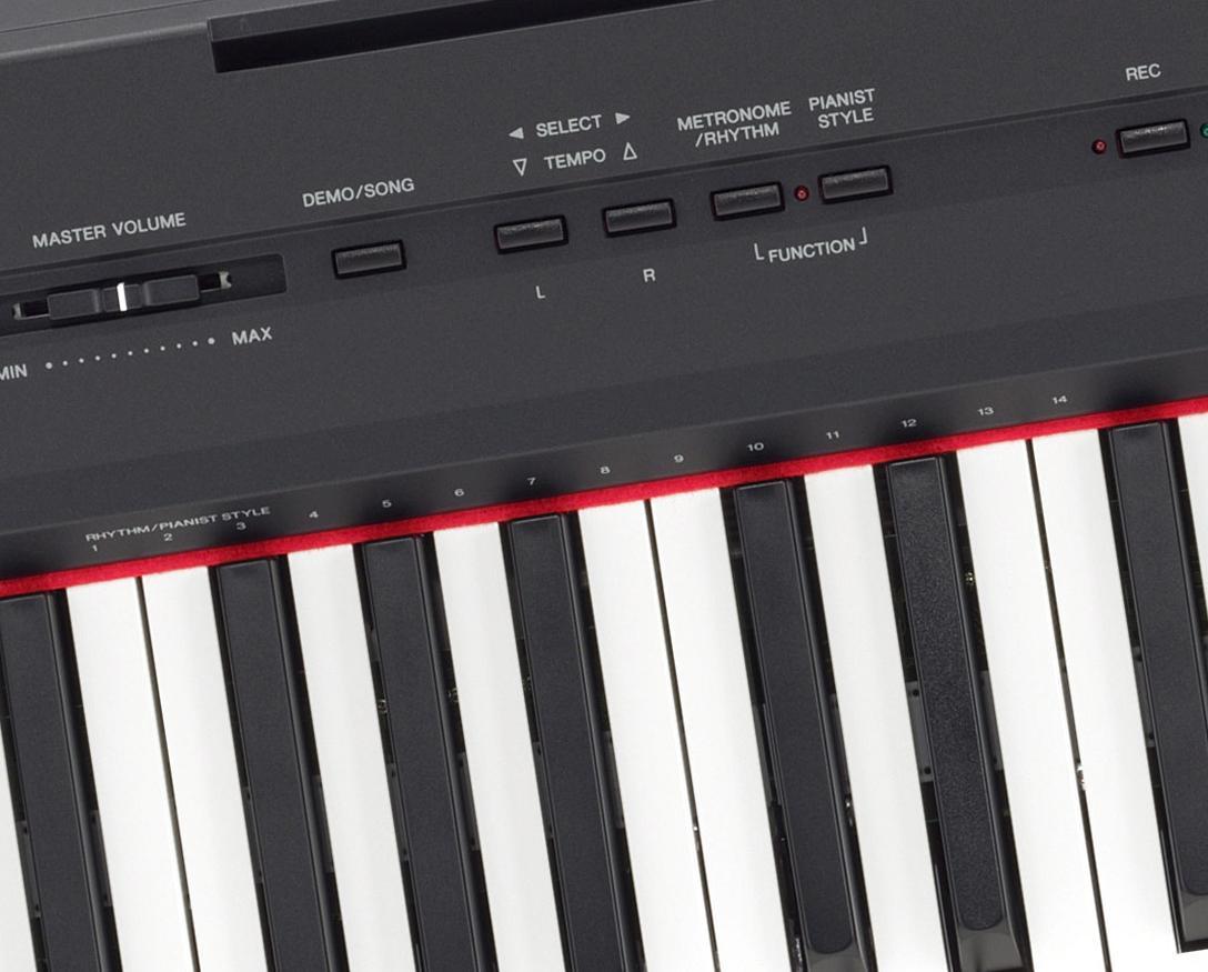 yamaha p115 digital piano black musical. Black Bedroom Furniture Sets. Home Design Ideas