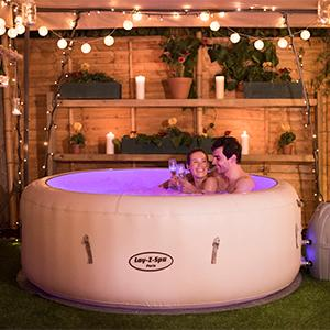 lay z spa paris hot tub with led lights airjet. Black Bedroom Furniture Sets. Home Design Ideas