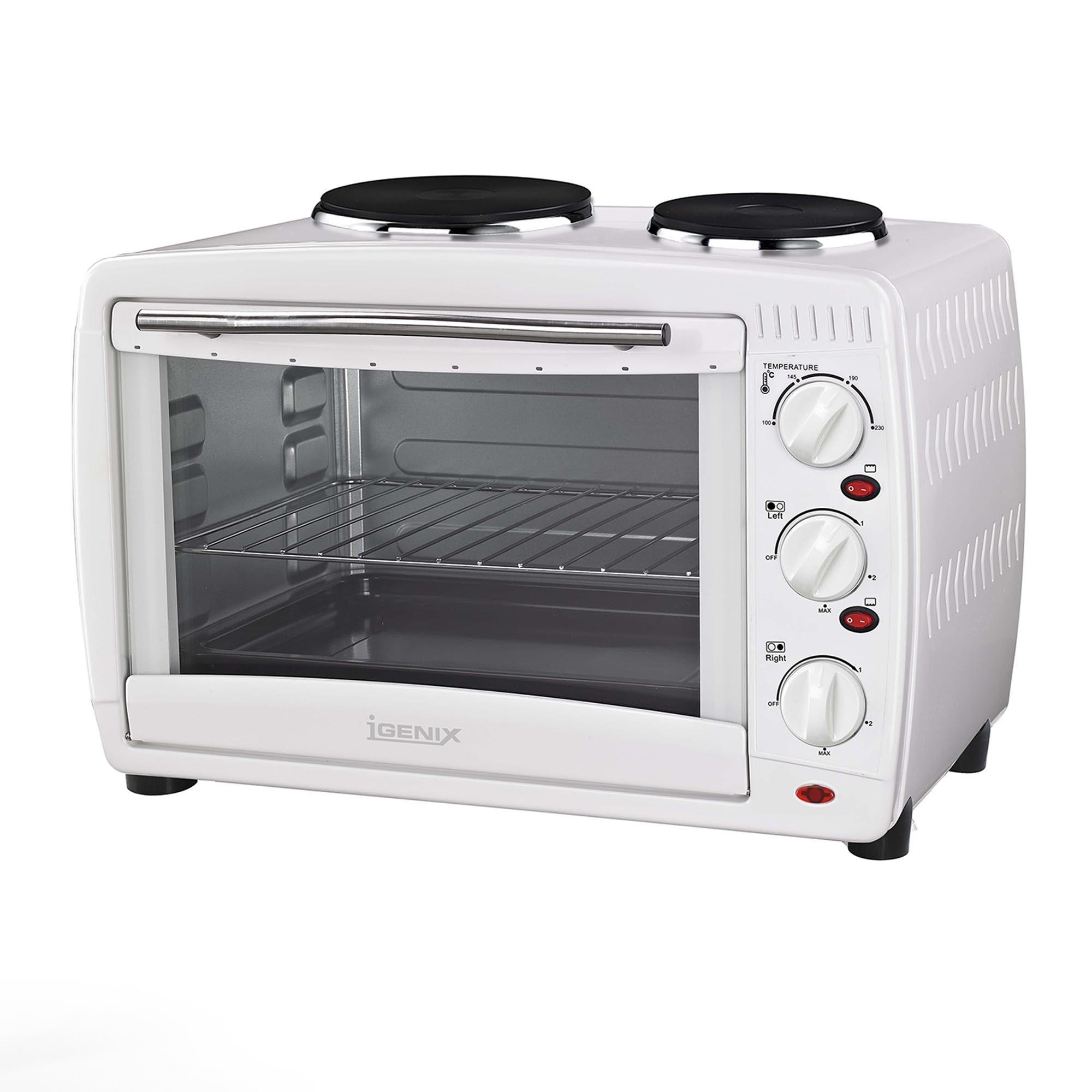 Mini Oven: Igenix IG7126 White 26 Litre Mini Oven With 2 Solid