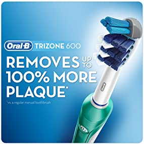 oral b trizone 600 electric rechargeable toothbrush powered by braun