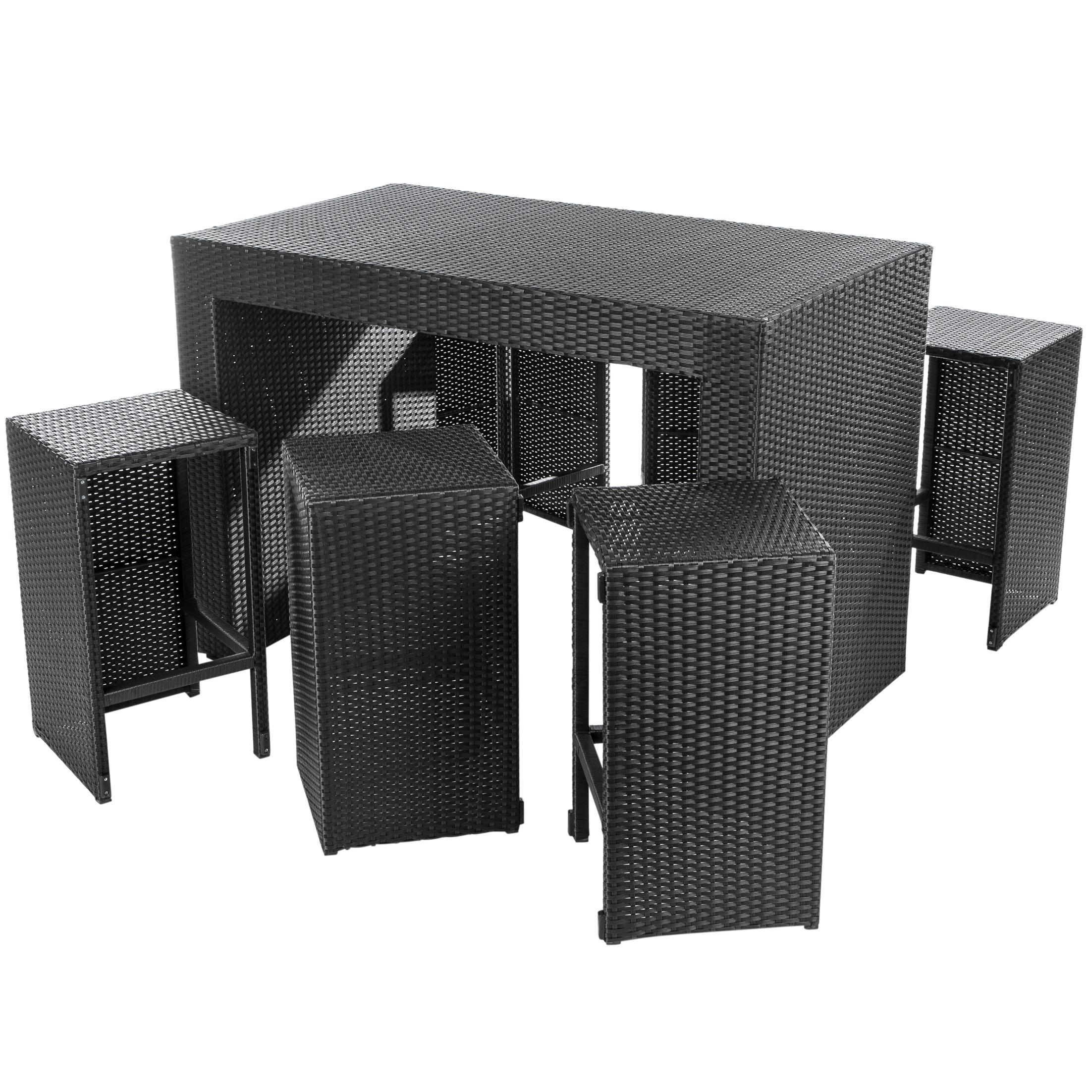ultranatura poly rattan 2in1 bar and lounge set palma series incl cushioning. Black Bedroom Furniture Sets. Home Design Ideas