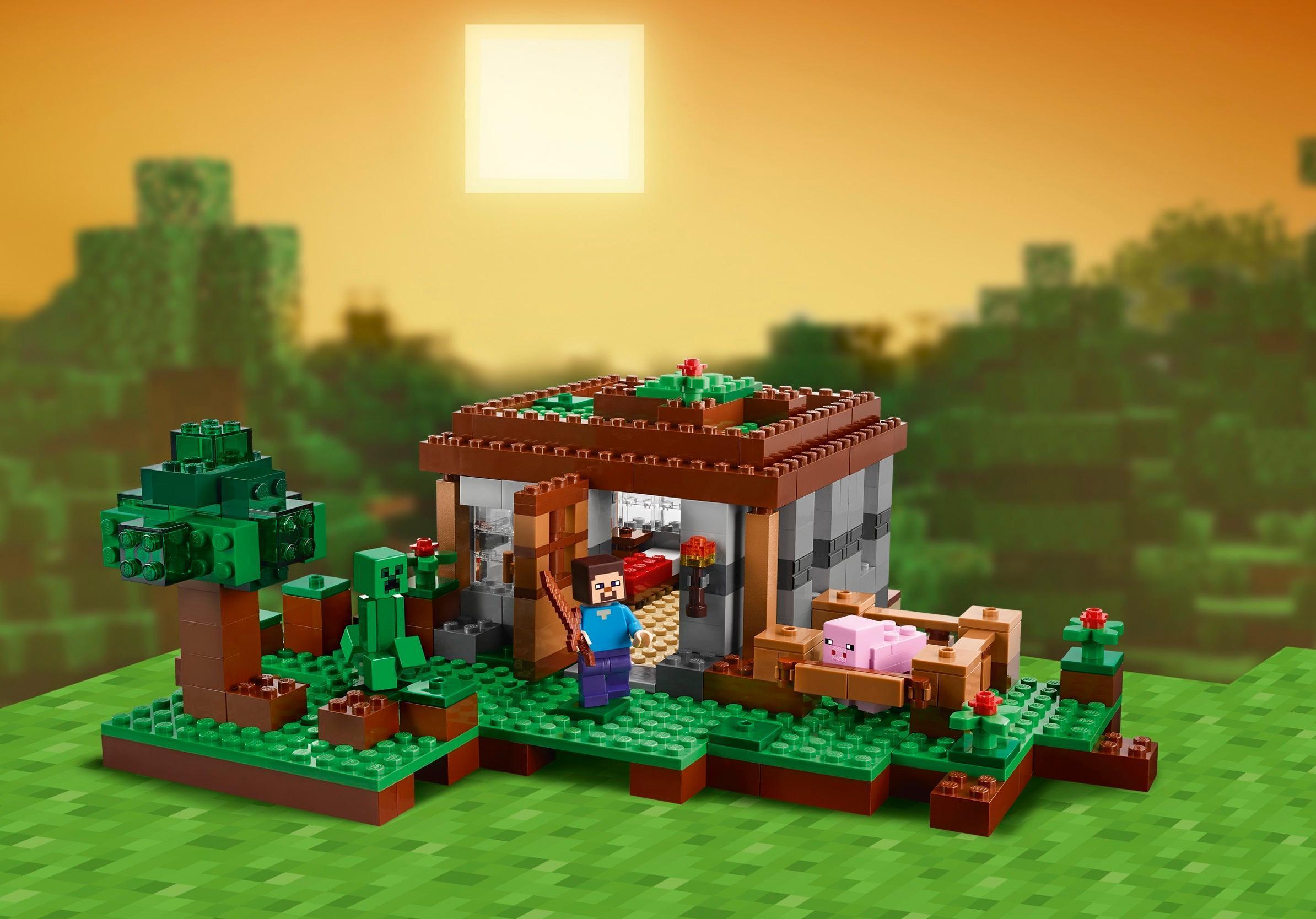 Lego Minecraft The First Night Set Amazon Co Uk Toys Amp Games