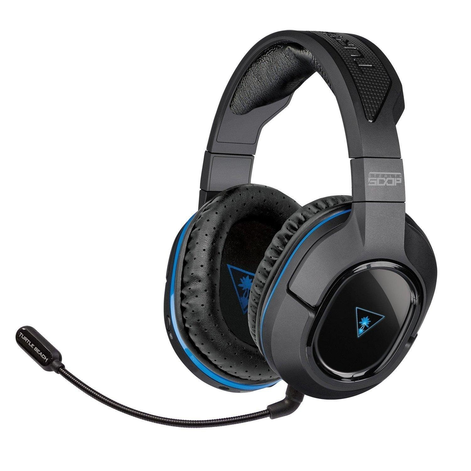 turtle beach ear force stealth 500p wireless dts surround sound gaming headset ps4 ps3 amazon. Black Bedroom Furniture Sets. Home Design Ideas