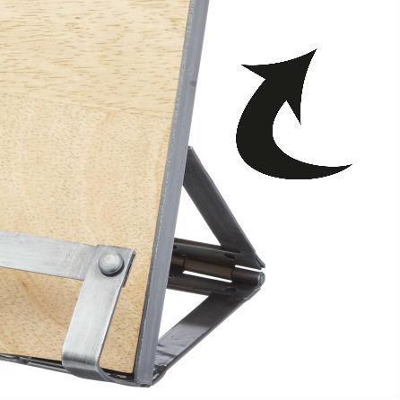 Metal Kitchen Craft Industrial Kitchen Cookbook Tablet Stand Mango Wood