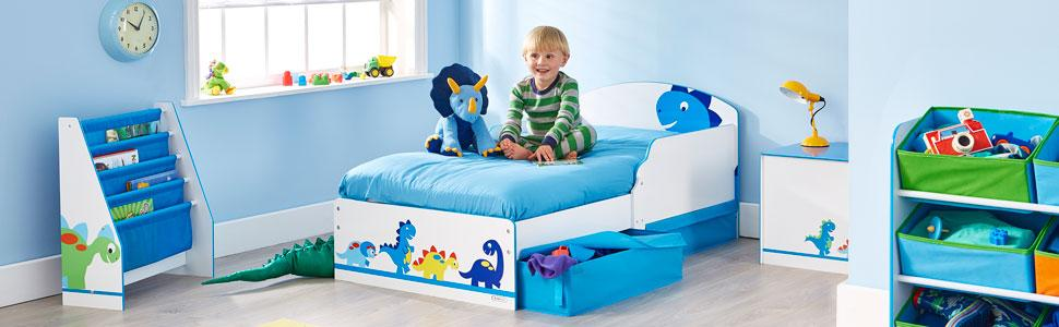 Dinosaur Kids Toddler Bed by HelloHome: Amazon.co.uk ...