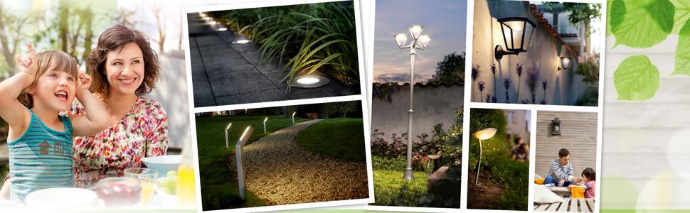 Philips Ledino Outdoor Flagstone Outdoor Wall Light Black