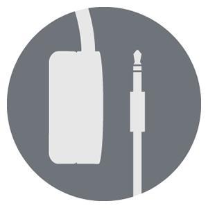 AKG Headphones. Detachable audio cable