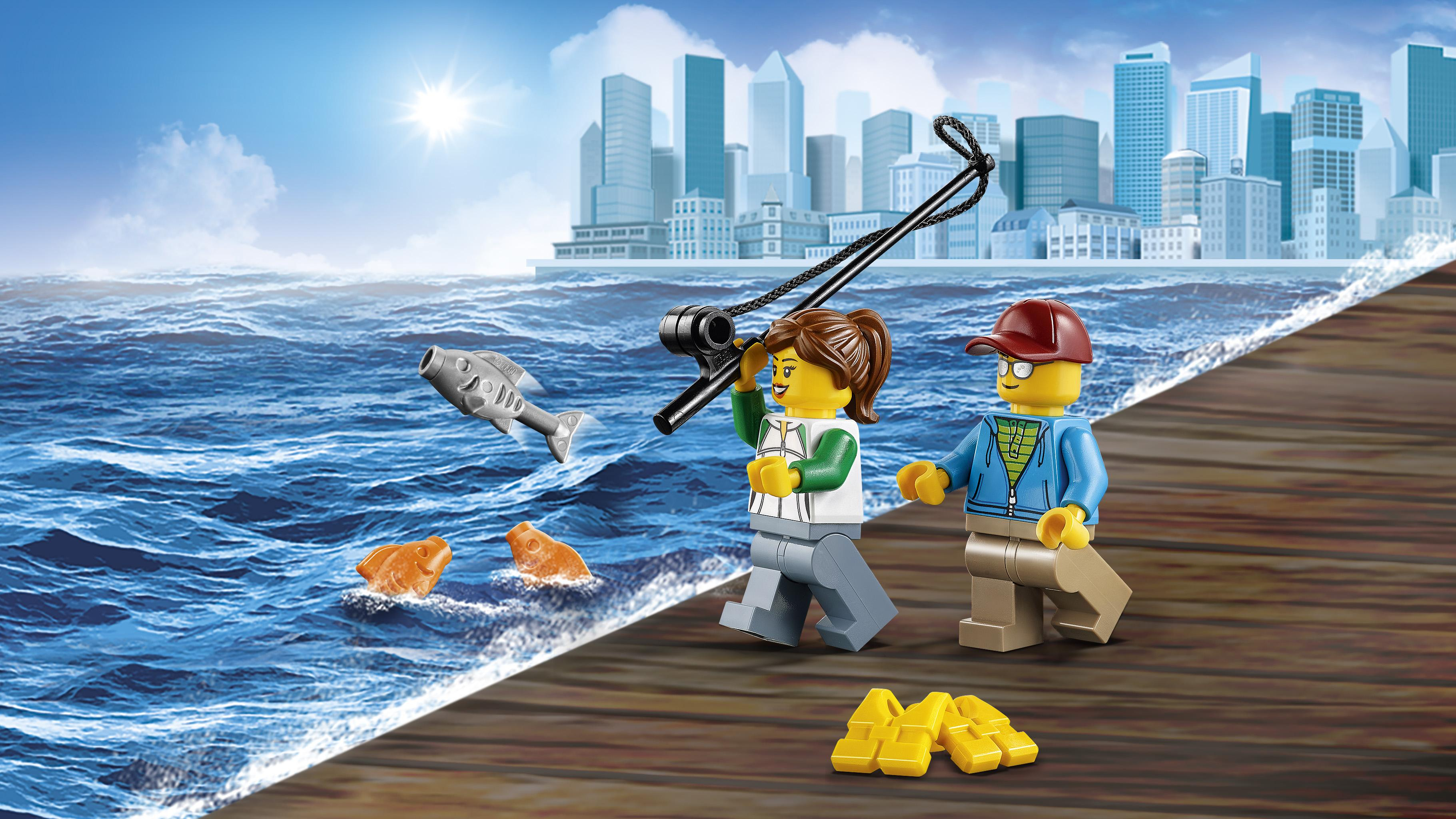 Lego 60147 fishing boat building toy lego for Fishing boat games
