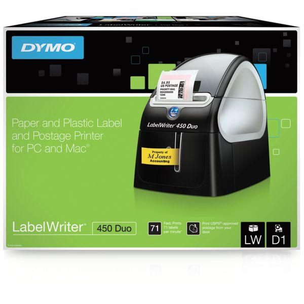 dymo labelwriter 450 duo label maker office products. Black Bedroom Furniture Sets. Home Design Ideas