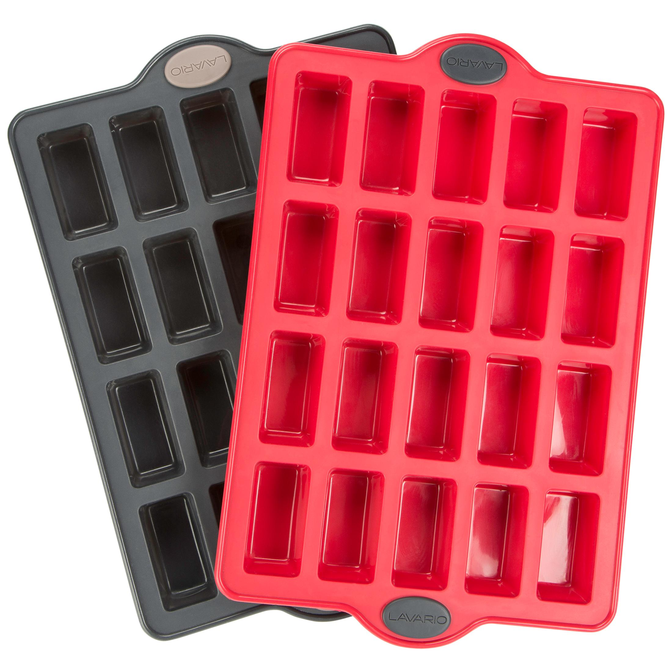 Levivo Silicone 20 Brownie Form Baking Sheet For