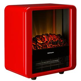 Dimplex 1.5 kW Electric Microfire in High Gloss Red