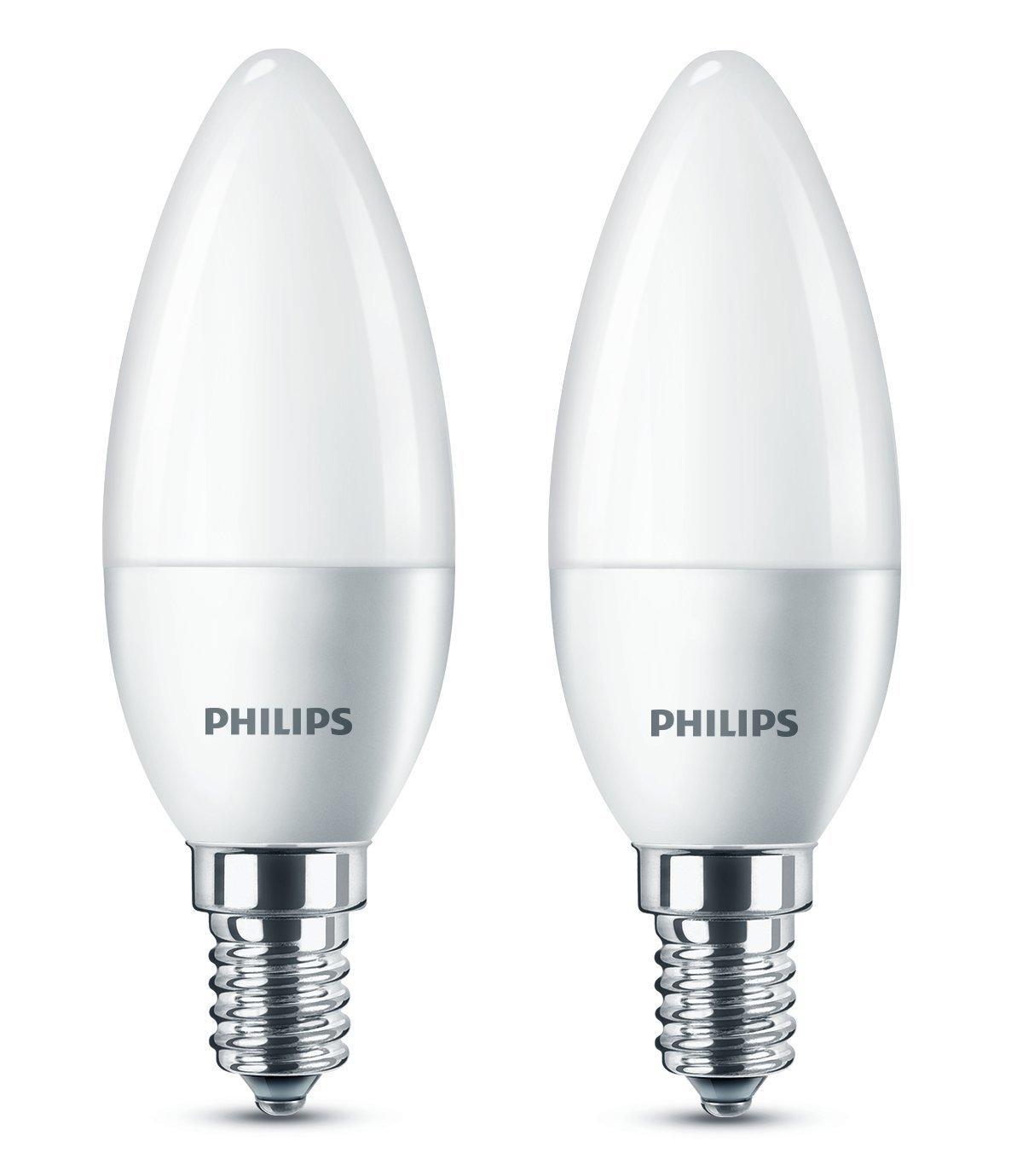 2er Pack Philips LED Glühbirne 5W=40W 470lm E27 A+ 2700K WarmWhite 15000hrs.