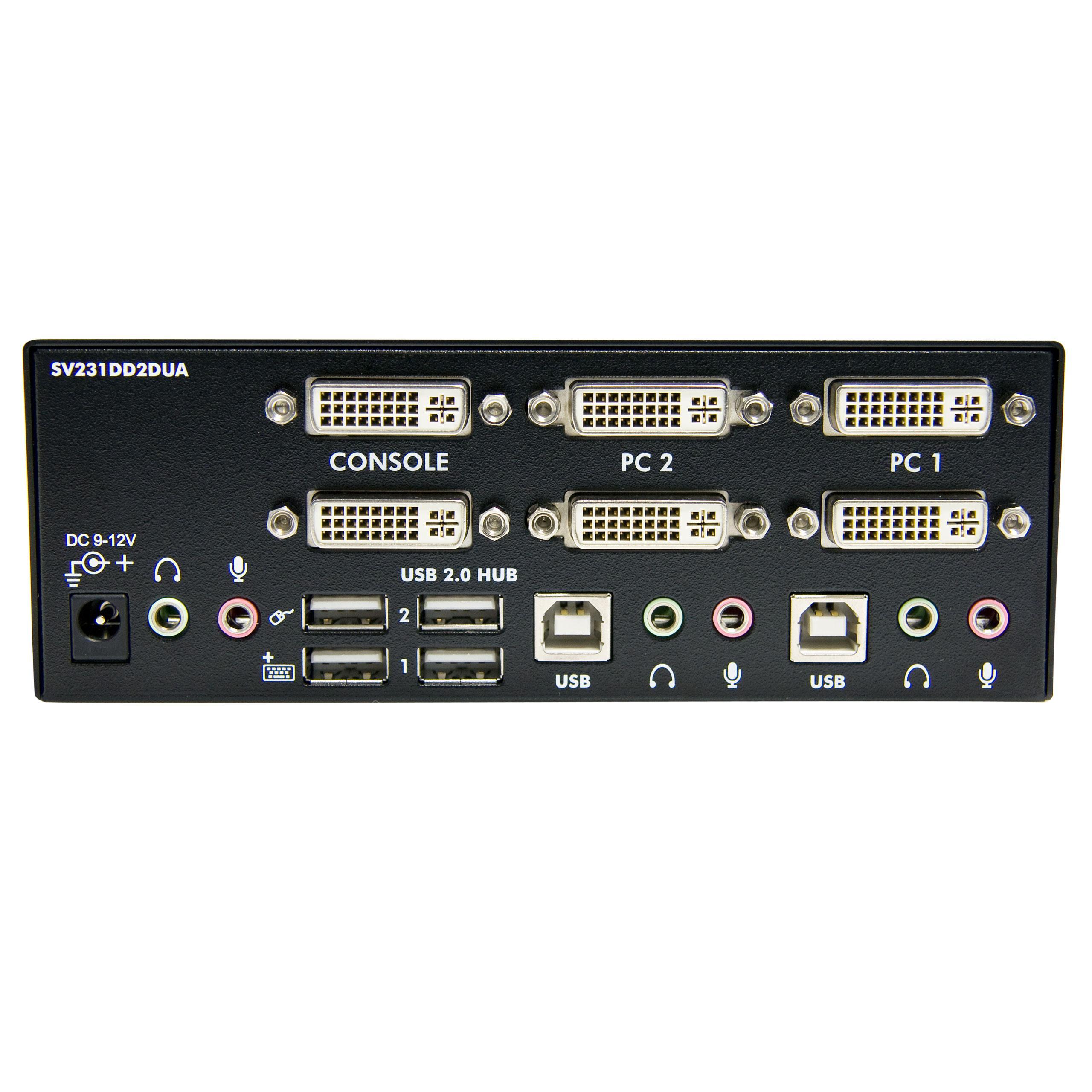 StarTech 2 Port Dual KVM Switch With Audio For DVI Amazoncouk