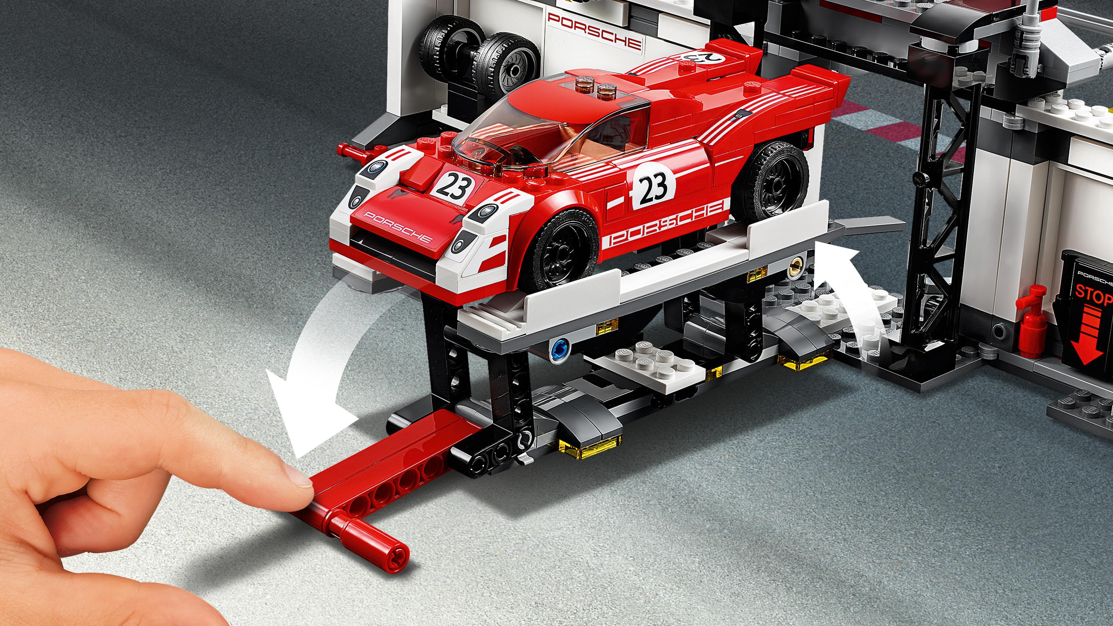 lego 75876 speed champions porsche 919 hybrid and 917k pit lane set toys games. Black Bedroom Furniture Sets. Home Design Ideas
