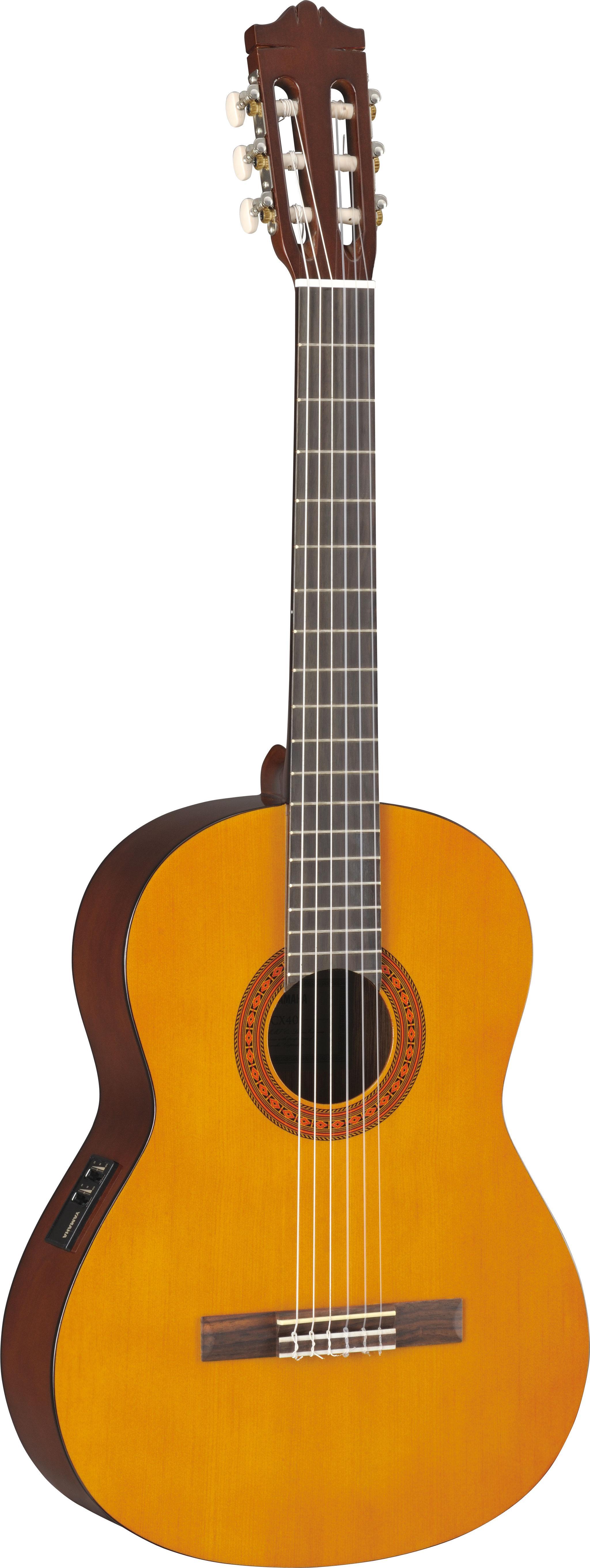 yamaha cx40 full size electro nylon classical guitar