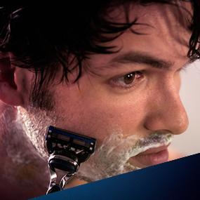 Gillette razor man shaving