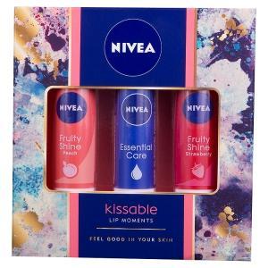 Nivea Kissable Lip Moments Gift Set for Women, 3 Pieces: Amazon.co ...