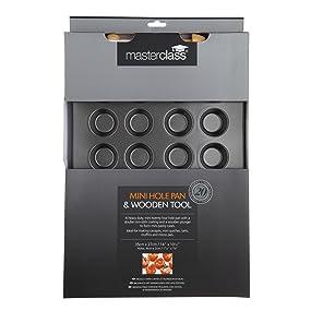Master class non stick 24 hole mini tart canap tray for Mini canape cases