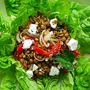 Chia Green Lentil Salad, Sevenhills Wholefoods, chia seeds, coconut oil