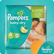 try pampers baby dry nappies