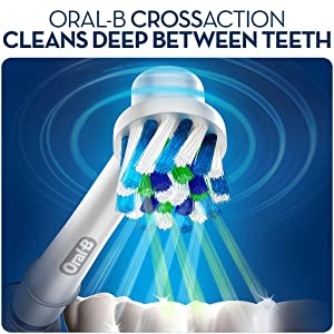 Oral-B Braun CrossAction electric toothbrush replacement heads