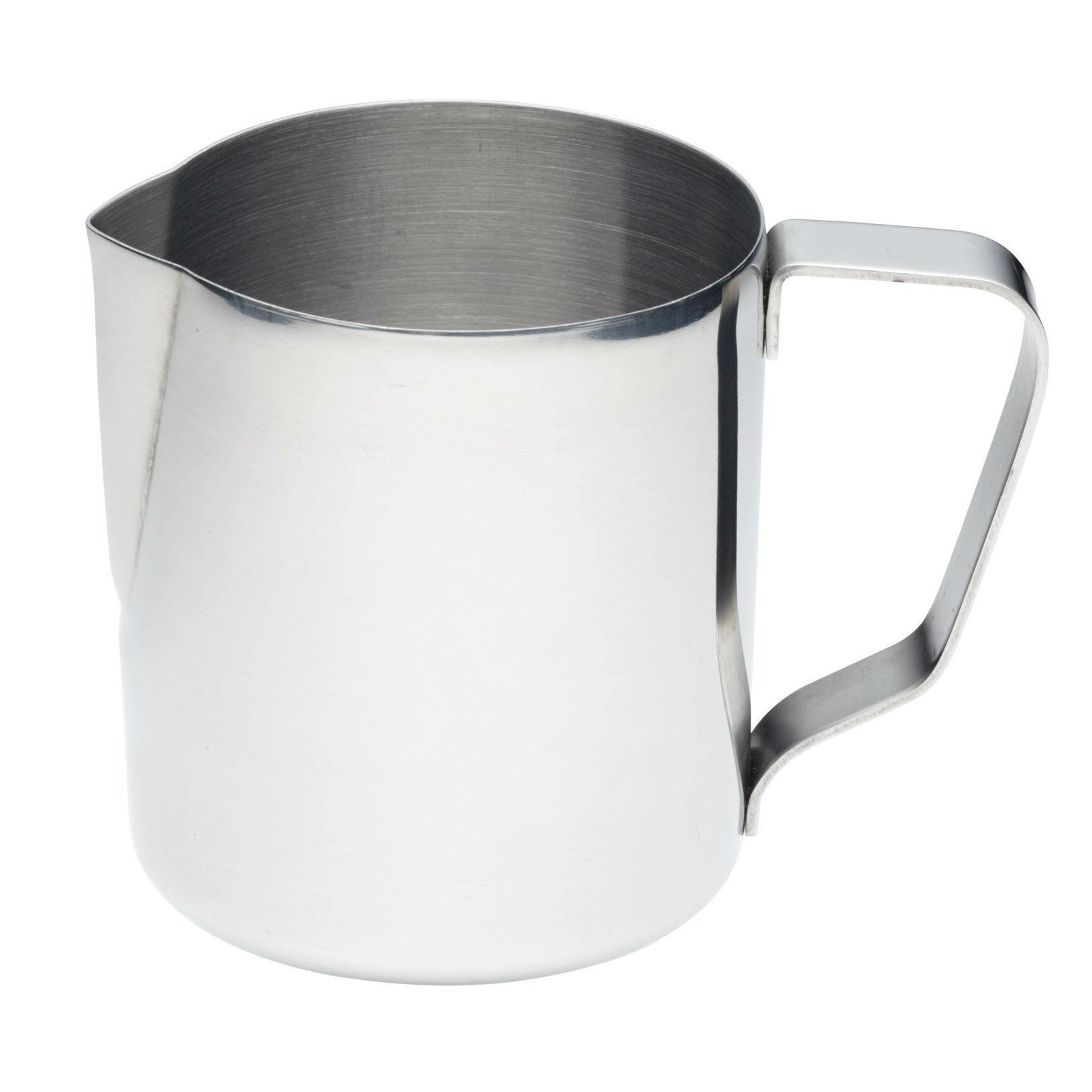 kitchencraft medium stainless steel milk jug  frothing jug   - view larger