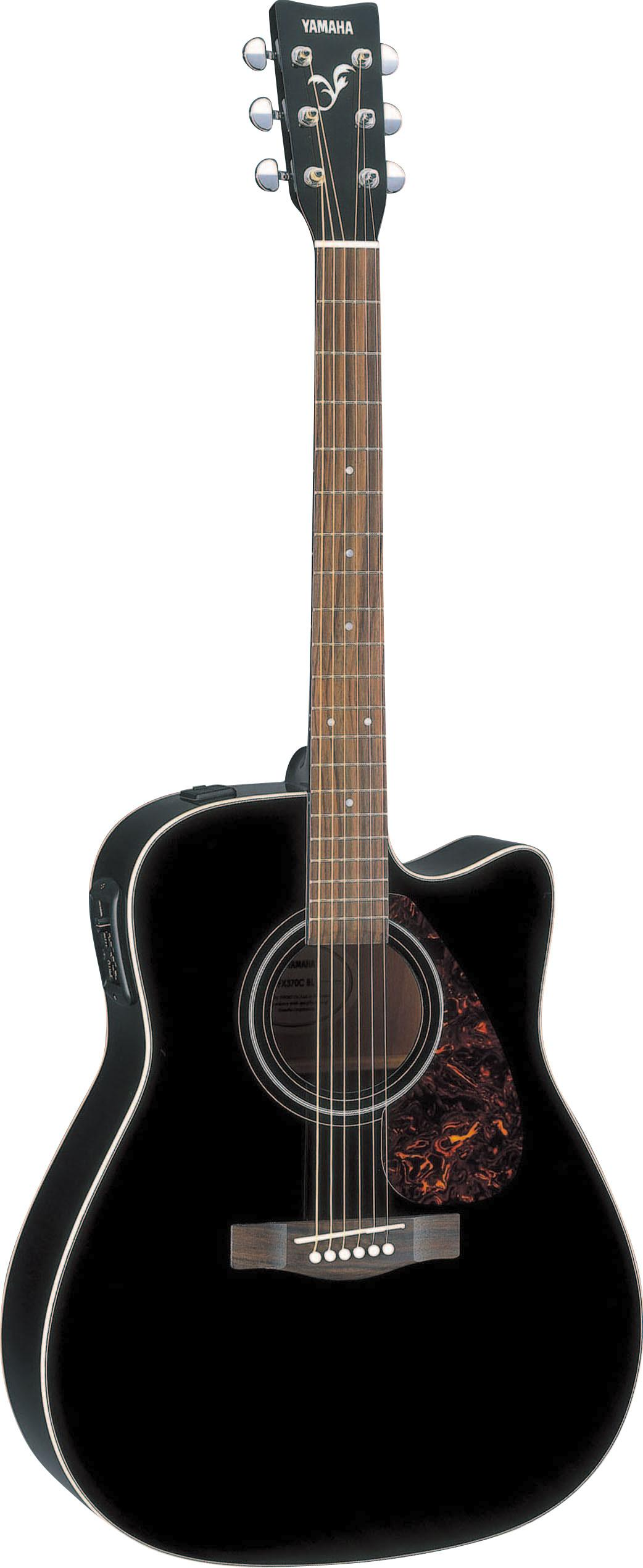 yamaha fx370c full size electro acoustic guitar black musical instruments. Black Bedroom Furniture Sets. Home Design Ideas