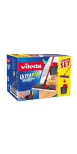 vileda easy wring and clean microfibre mop and bucket with. Black Bedroom Furniture Sets. Home Design Ideas