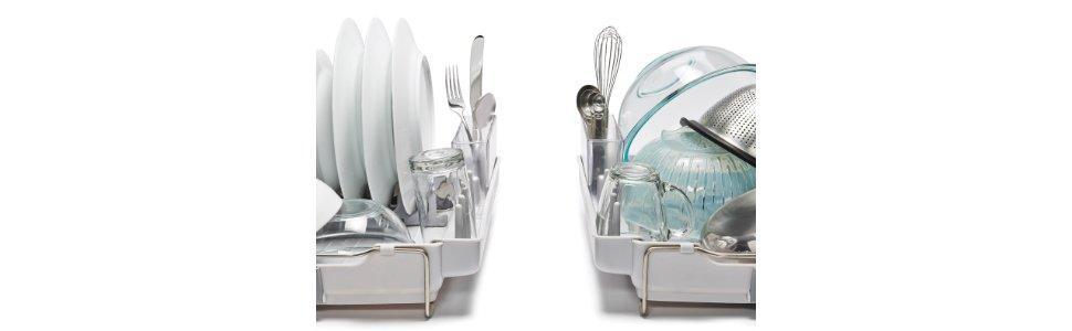 Oxo Good Grips Foldaway Dish Rack Grey Amazon Co Uk