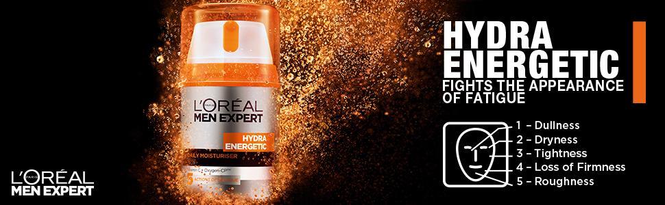 L'Oreal Men Expert Hydra Energetic Daily Moisturiser 50ml: Amazon ...