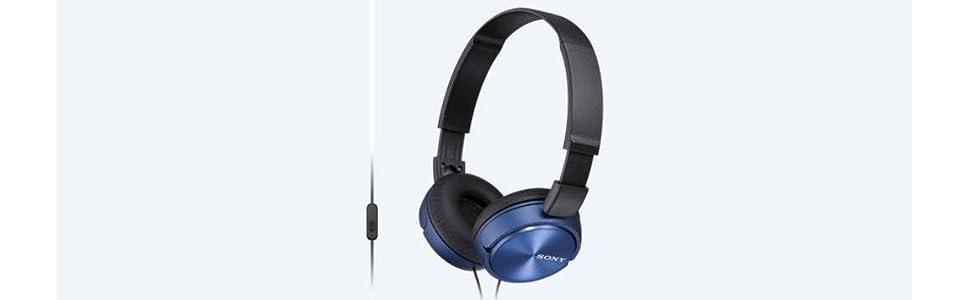 sony, mdrzx310, foldable headphones