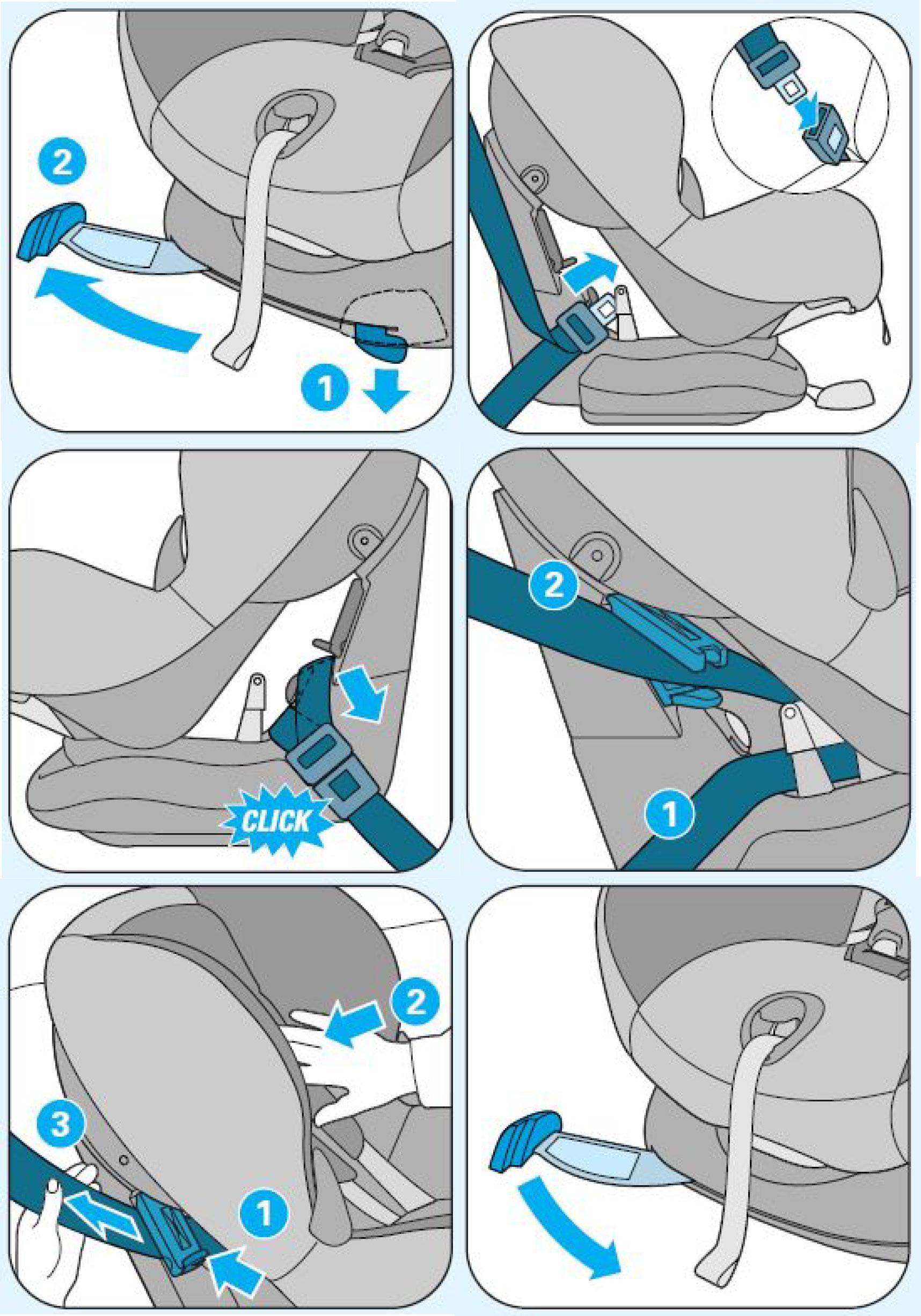 maxi cosi front facing car seat instructions