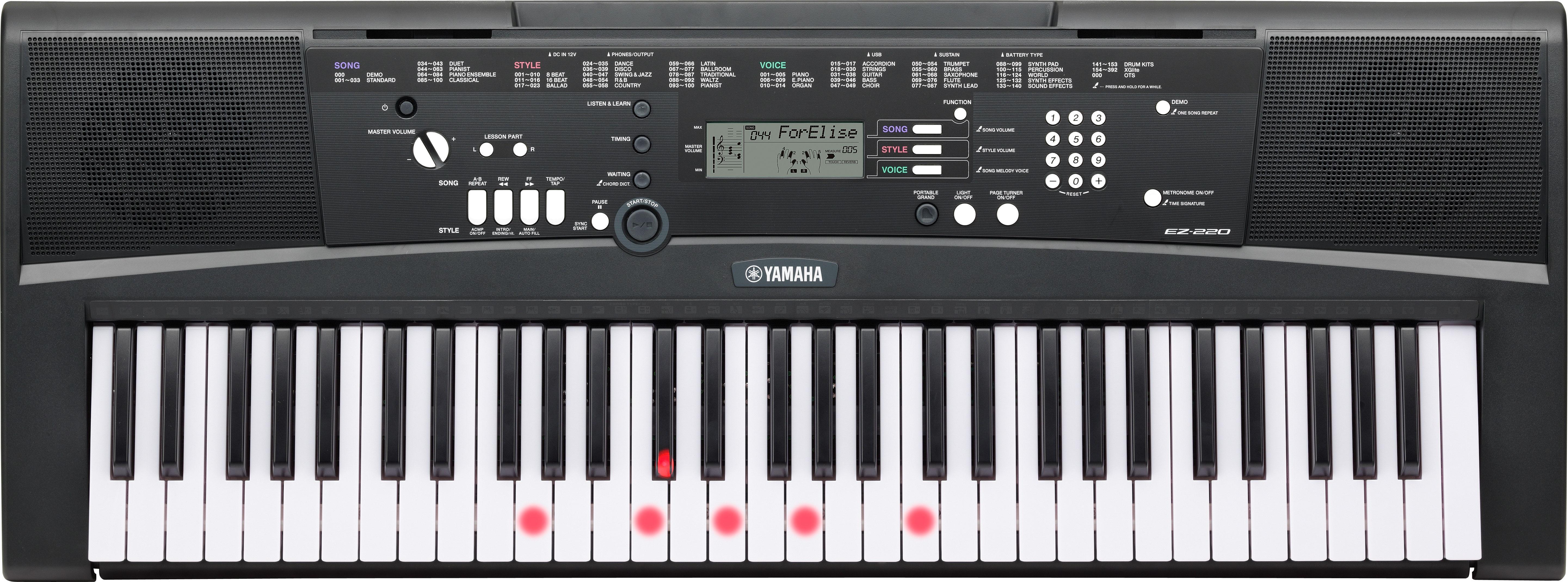 Yamaha Keyboard Lighted Keys