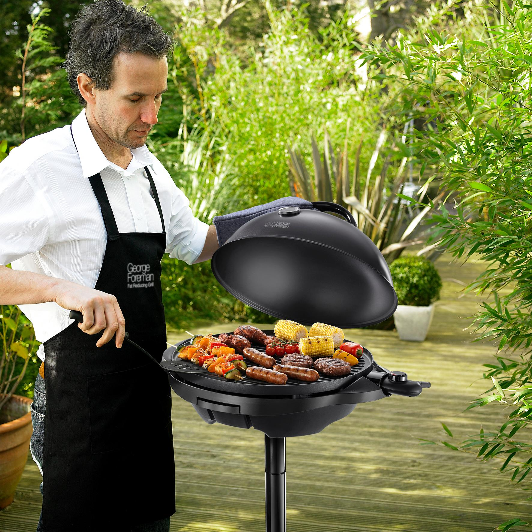 George foreman indoor and outdoor grill 22460 black for Plenty of fish kc