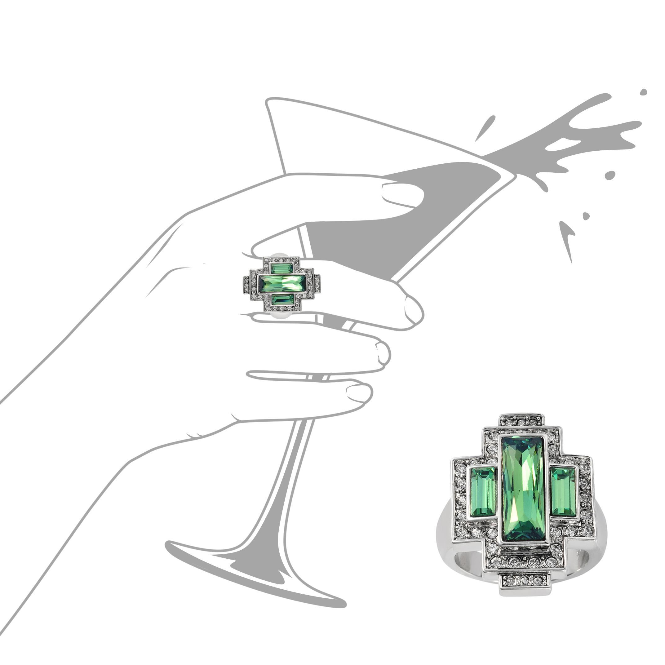 daae133ad Cristalina Gatsby Swarovski Crysolite Green Art Deco Style Statement ...