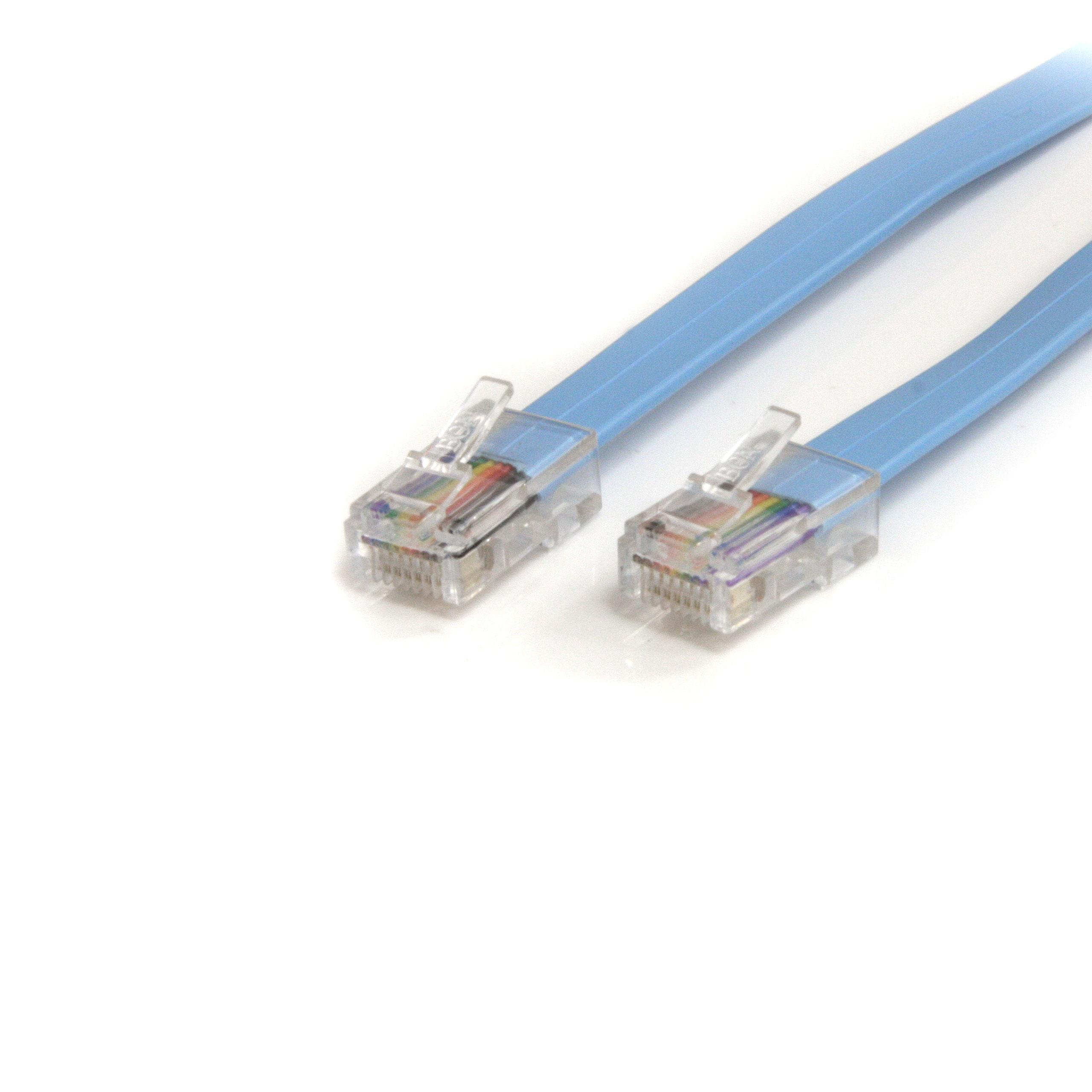 Startechcom 6 Ft Cisco Console Rollover Cable Rj45 M Amazonco Socket Wiring Australia View Larger