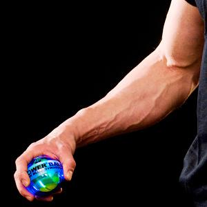 Powerball builds strong forearms